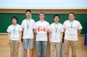 The Canadian IOL team pose for a photo at the Olympiad's opening ceremonies in Ljubljana, Slovenia.