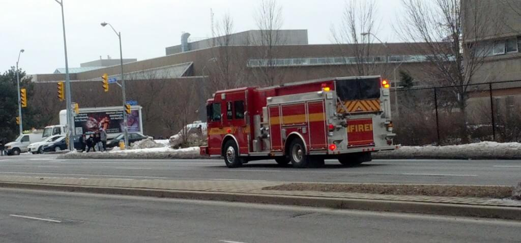 A fire truck approaches MGCI for one of two false alarms in the same day. Photo: Mahan Nekoui