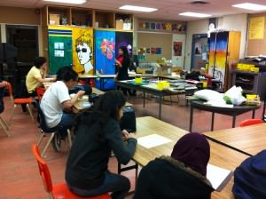 The STEPS program visited MGCI's Art Department to recruit students for their upcoming public art project.