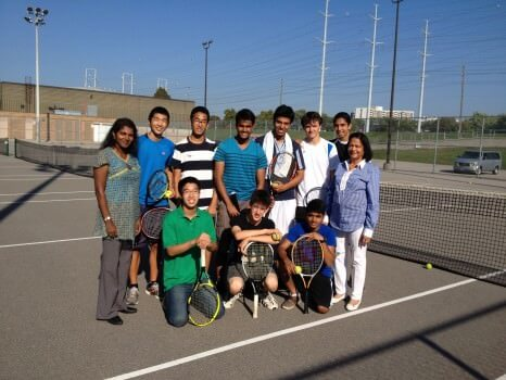 The boys' tennis team.  Photo courtesy of Henry He.