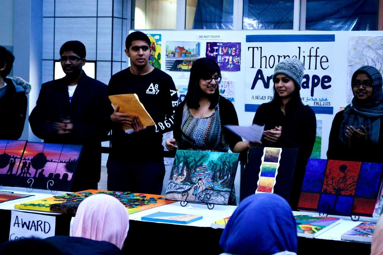 The organizers of the exhibit. Photo courtesy of Thorncliffe Artscape.