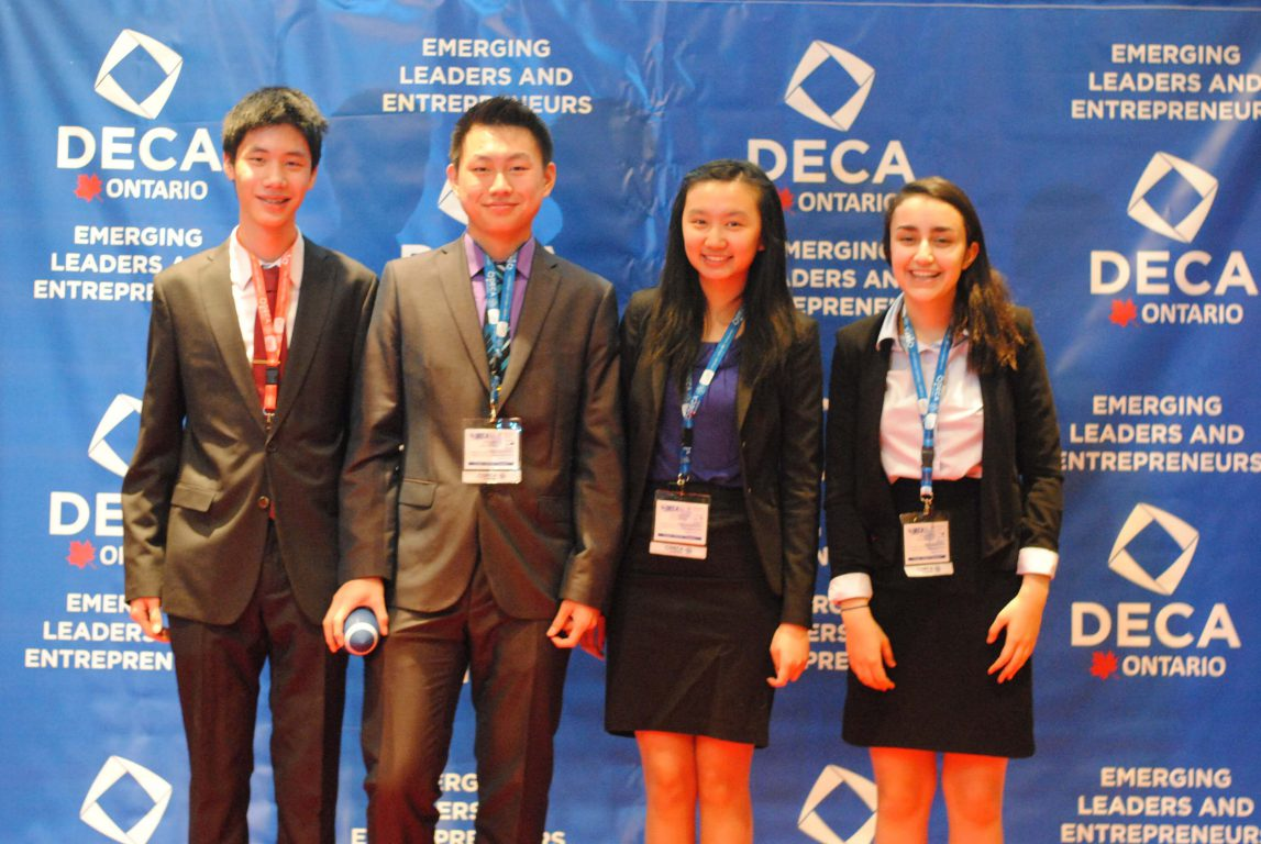 Competitors from Marc Garneau CI  at the DECA Ontario provincial competition.
