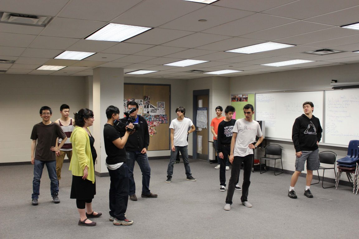 MGCI Urban Dance Club filming vignettes of their practices for Dare2Dance. Photo: David Tang