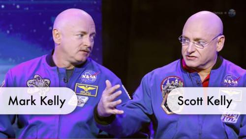 Scott Kelly will orbit Earth for a year as his brother Mark stays behind as the control. (Image courtesy of PhysOrg)