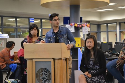 SAC held a Q&A session in the library. Photo: Vaibhav Singh