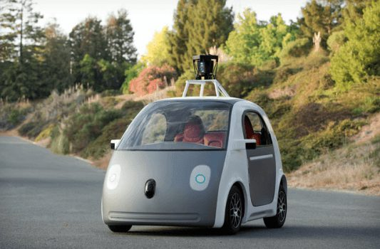 The current prototype model for Google's self-driving cars. (Image courtesy of The Verge)