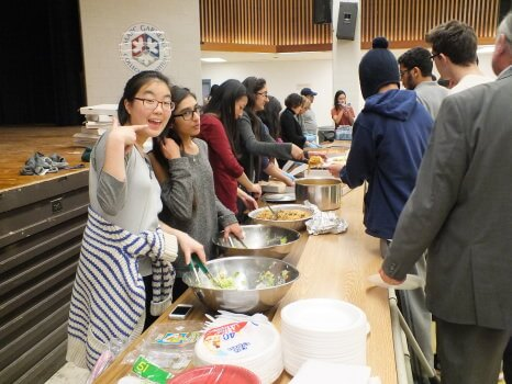 Students were able to enjoy food, movies, and tournaments during this year's Eliminate Night. Photo: Arfana Mulla
