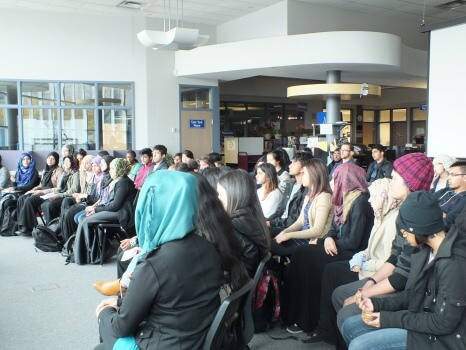 Students listened attentively to the various speakers. Photo: Arfana Mulla
