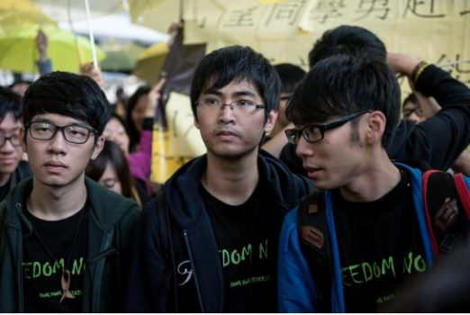 Hong Kong student leaders were prevented from boarding flight to Beijing (Image courtesy of Alex Ogle / AFP/Getty Images).