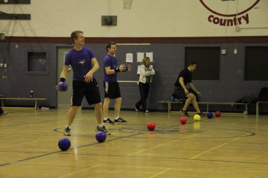 Students and Teachers played dodgeball during lunch to support United Way. Photo: Valiant Chan
