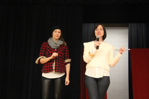 Founders of Franq Girl Magazine, Kristin Grimshaw (left) and Jessica Nicholson  (right) speak at the event.