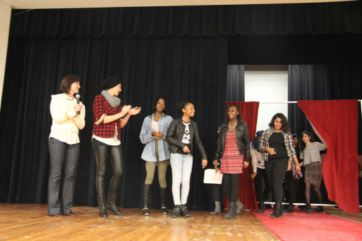 Participants in the BeYou-tiful show step out on stage.