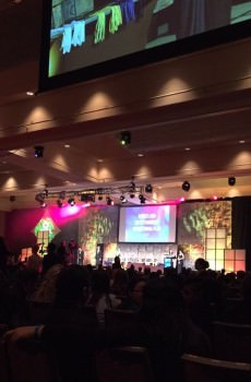 The award ceremonies were held in the Grand Ballroom of the Sheraton Hotel. Photo courtesy of chapter president Vanessa Du.