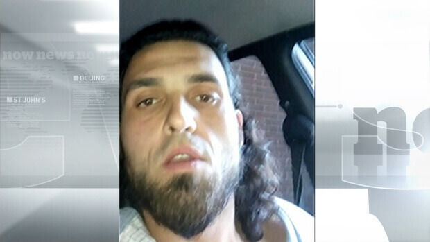 The RCMP released all but 18 seconds of  Michael Zehaf-Bibeau's explanatory video. (Image courtesy of RCMP/CBC.)