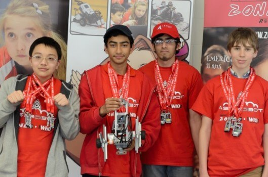 Members of the MGCI Robotics team competed at the _________. Photo courtesy of Saiyam Patel.
