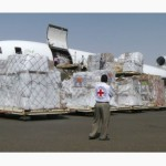 Red Cross lands in Sanaa, Yemen, the city being controlled by rebel forces. (Image Courtesy of Hani Mohammed / AP)