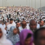 Pilgrims make their way to a ritual in Mecca. (Image courtesy of Mosa'ab Elshamy/AP.)