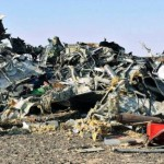 The remains of a Russian plane crash in Sinai Egypt. (Image Courtesy of EPA.)