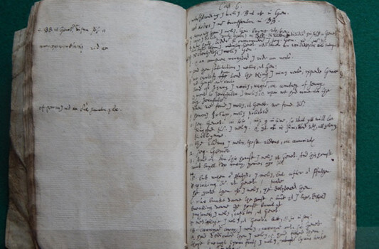 Notes where Samuel Ward translated the King James Bible