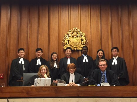 The appellant and respondent teams along with the judge panel. Photo: OJEN