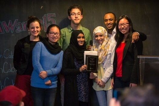 MGCI's Art Council received the award at a ceremony late last year. (Source: Toronto Youth Cabinet)