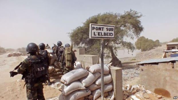 Cameroon soldiers defending from a lookout post. (Image courtesy of VOA News.)