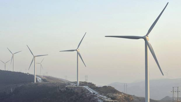 Wind turbines in the Liaoning province of China.