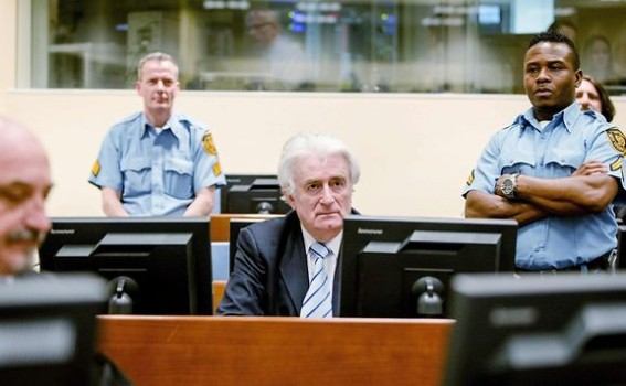 Radovan Karadzic, former Serb leader, sits in the courtroom awaiting his verdict. Source: Luxemburger Wort
