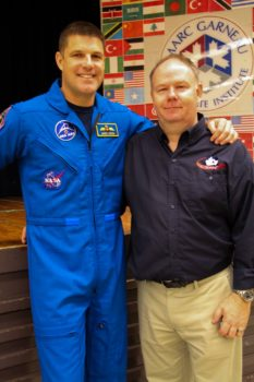 Mr. Hansen described his experiences working with NASA. Mr. Lang organized the event. Photo: Valiant Chan.