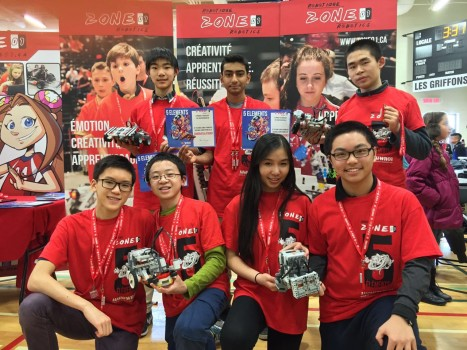 MGCI Robotics Team takes two silver medals home at the Zone 01 Robotics Competition. (Photo courtesy of Kai Huang)