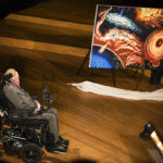 The Morris Loeb Lecture in Physics and The Black Hole Initiative Inauguration. Stephen Hawking (pictured) delivers a talk in Sanders Theatre at Harvard University. Stephanie Mitchell/Harvard Staff Photographer