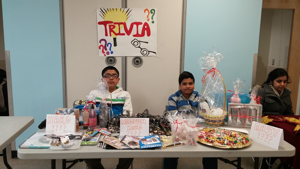 Prizes were given away through trivia games used to encourage participation. (Photo courtesy of Gul-e Rana)