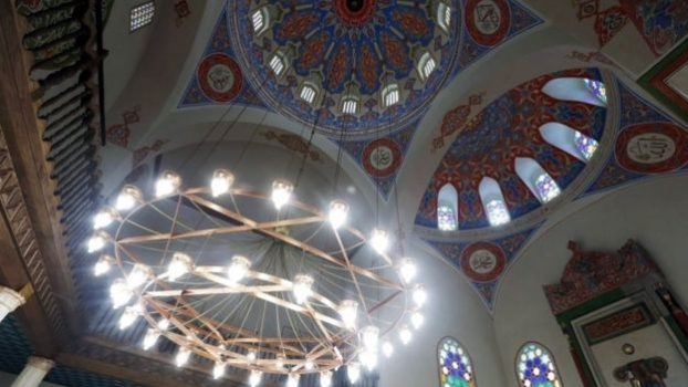 The mosque's interior has been completely restored. (Photo courtesy of BBC News)