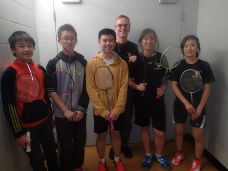 The badminton team, picture above. Photo courtesy of Matthew Chiang.