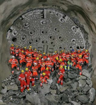 The train tunnel will be made of two main tunnels: the Gotthard Base Tunnel and the Ceneri Base Tunnel. (Image courtesy of Tunneltalk.com)