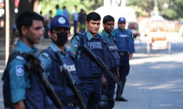 Police investigate the crime which occurred in Tangail (Photo courtesy of Dawn)