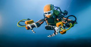 OceanOne, a humanoid robotic diver created by Stanford professors. (Photo courtesy of Stanford News)