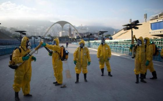 Rio is taking precautions to protect visitors against Zika-carrying mosquitoes. (Image courtesy of AP.)