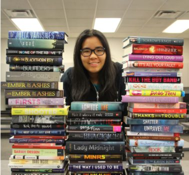 Lauren Chang won 50 young adult fiction books for Marc Garneau's library.