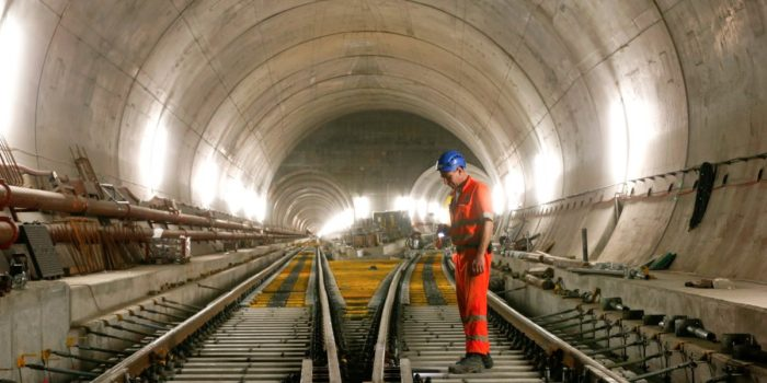 The Gotthard Base Tunnel, completed after 17 years, is longest tunnel in the world. (Image courtesy of Business Insider)